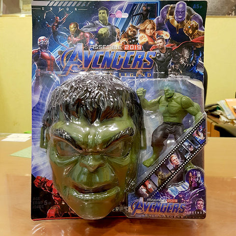 Marvel Avengers Hero - Hulk Figure With Mask (2in1)