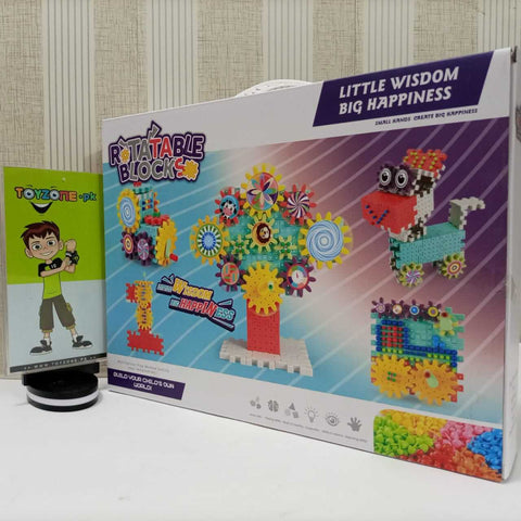 Image of Rotating Building Block Set - 168 PCS