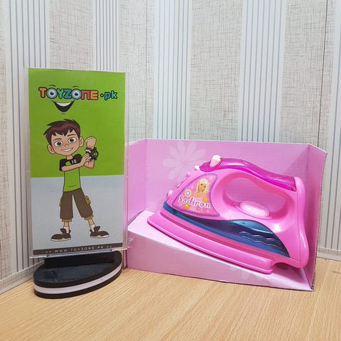 Mini Electric Iron Toy Plastic Pink Kids