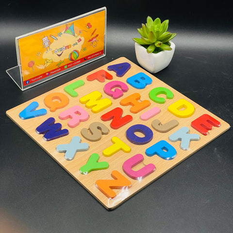 Numbers and Letters Wooden Peg Puzzles