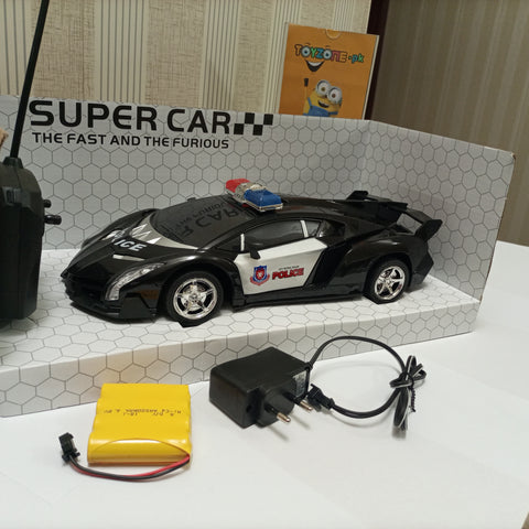 Image of Remote Control Police Car With Light & Sound