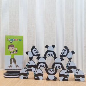 Early Learning Stack Balancing Block Wooden Panda