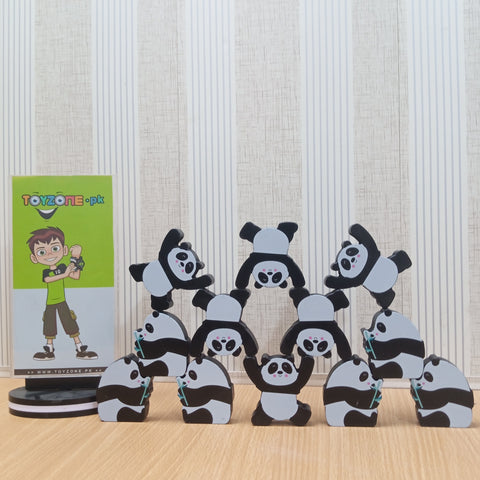 Image of Early Learning Stack Balancing Block Wooden Panda
