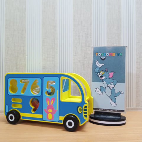 Image of Knock The Ball Digital Bus Wooden Blocks