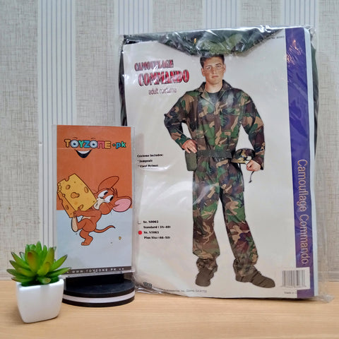 Image of Teen Camouflage Soldier Costume