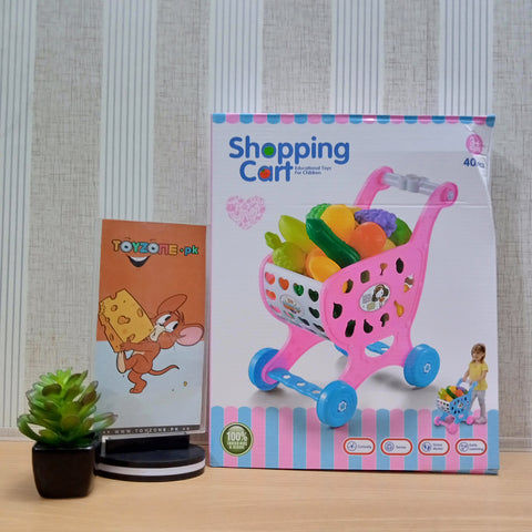 Pretend Play Shopping Cart 40 pcs
