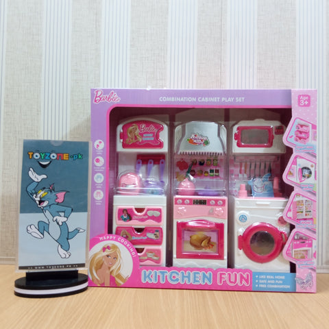 Kitchen Barbie Combination Cabinet Play Set