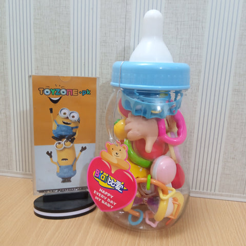 Baby Rattles with Feeding Bottle