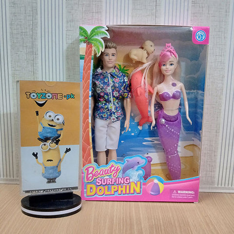 Image of Beauty Surfing Mermaid Doll