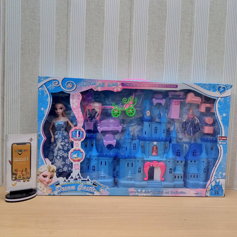Image of Dream Frozen Castle With Frozen Doll