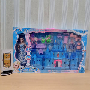 Dream Frozen Castle With Frozen Doll