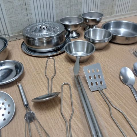 Image of Miniature Stainless Steel Kitchen Set - TZP1 - ST0