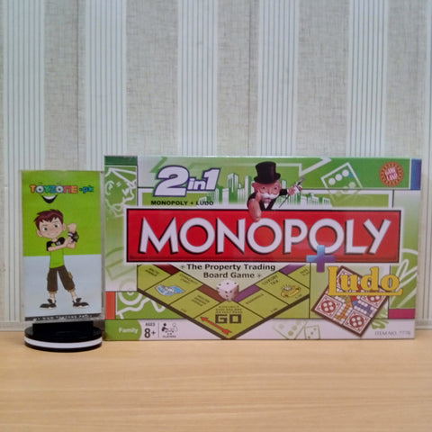 2 in 1 Monopoly + Ludo Family Game - TZP1