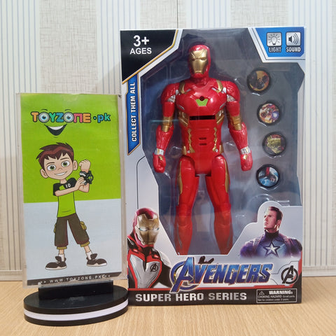 Avengers  Figure with Lights and Music and Weapons Iron Man