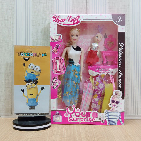 New Stylish Doll With Little Doll & Accessories