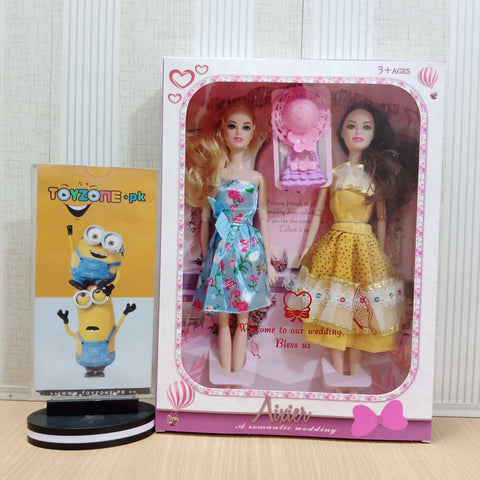 Twin Dolls Set With Accessories