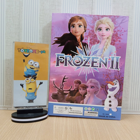 Disney Beautiful Princess Anna & Elsa with Olaf