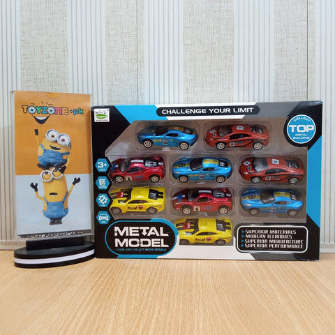 Image of ALLOY PULL BACK RACING Car Set