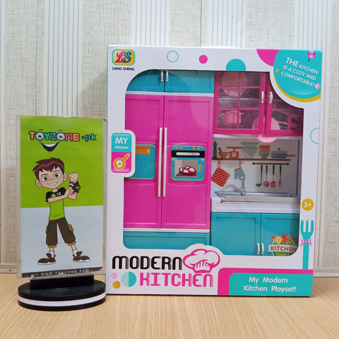 Image of Pink Modern Kitchen Toy Set for Girls - TZP1