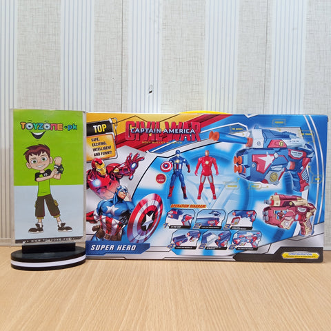 Image of Captain America Soft Bullet Blaster Super Gun Playset - TZP1