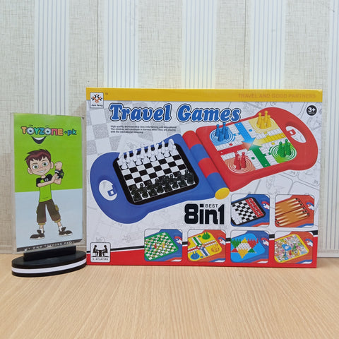 8 in 1 Travel Game Board Game - TZP1
