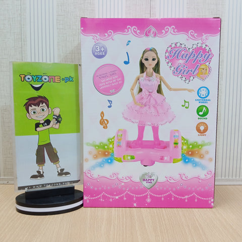 Image of Rotate swing skateboard doll with Light And Music - TZP1