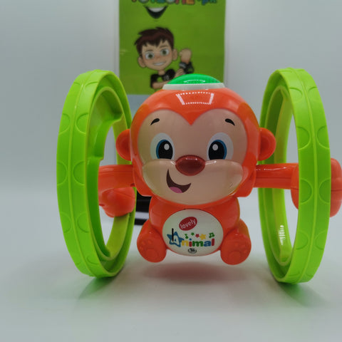 Friction Rocking Wheel Monkey with Lights and Sound - TZP1