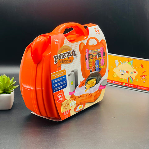 Image of Delicious Pizza Play Set Briefcase - TZP1