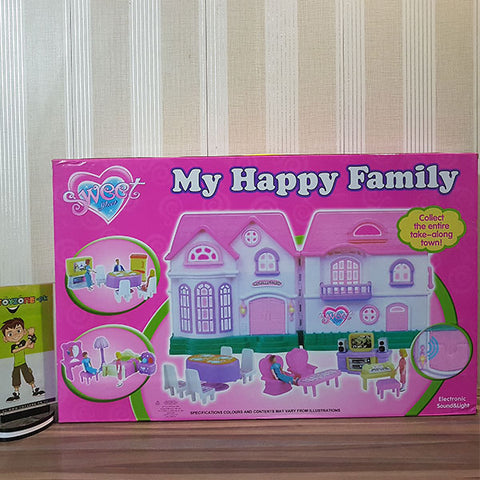 Image of Electronic Happy Family Doll House (Med)