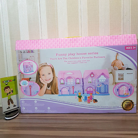 Battery Operated Family Doll House (Med)