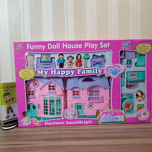 Electronic Happy Family Doll House (Med)