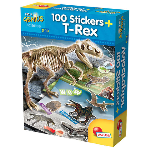 Image of Liscania I'M A GENIUS T-REX STICKERS