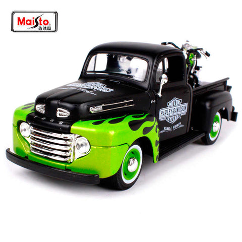 Image of Maisto 1:24 Ford Pickup with 1:24 FL Panhead