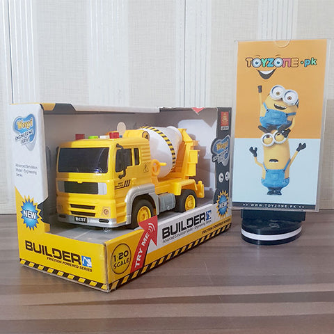 Friction Super Mixer Truck with Lights and Sounds 1:20 Scale