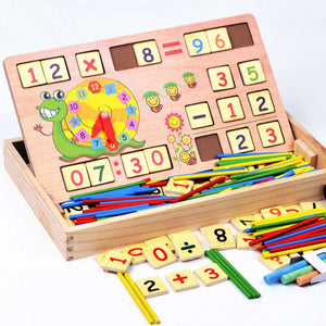 Wooden Educational Multi-Functional Digital Computing Learning Box - STO
