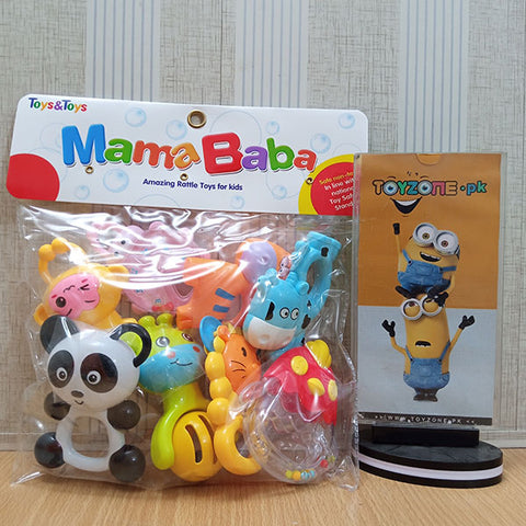 Newborn Baby Animals Rattles Set
