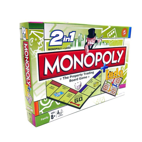 Monopoly 2 in 1 Board Game - TZP1