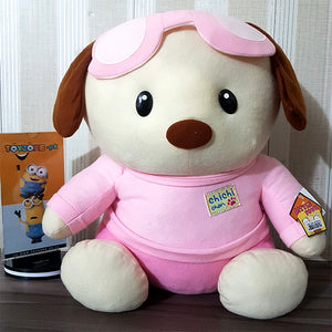 Plush Soft Dog-Stuffed Toy ( Pink& White )