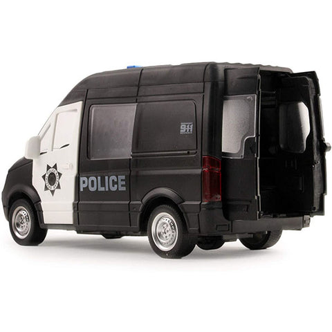 Image of Friction Powered Police with Lights and Sounds 1:16 Scale