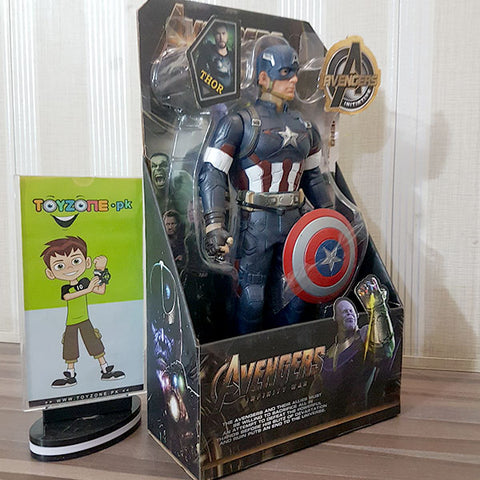 Image of Premium Rubberized Action Figure - Captain America