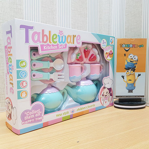 Image of Pretend Play Tea Set for Little Girls