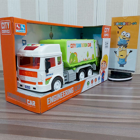City Service Friction Sanitation Truck with Lights and Sounds