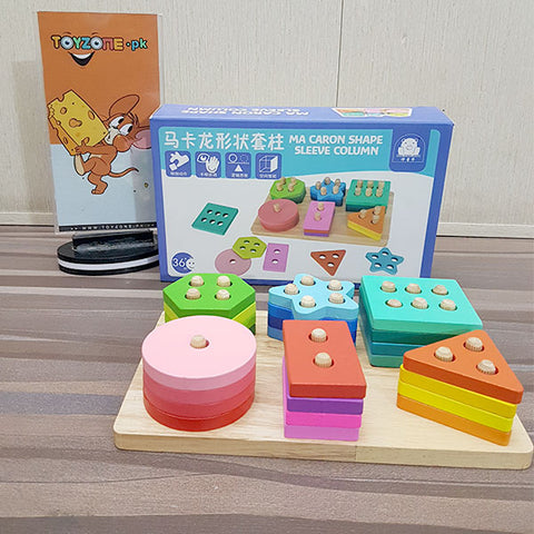 Wooden Preschool Learning Shape Sorter