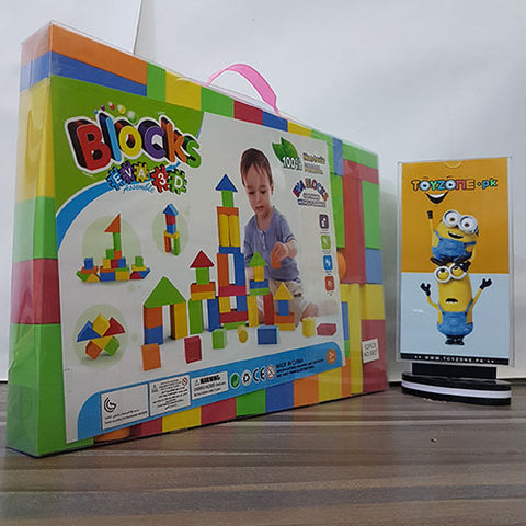 Image of Educational Soft Foam Stacking Playtime Blocks (52 Pcs)