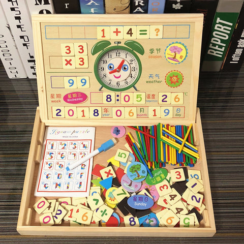 Image of Magnetic Puzzle Arithmetic Learning Box