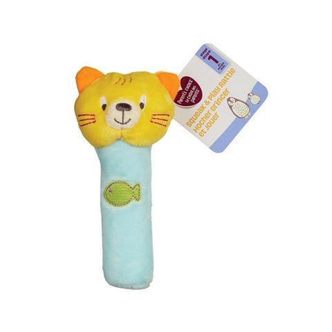 WF CAT RATTLE stick toy