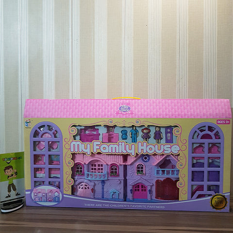 Battery Operated Family Doll House (Large)