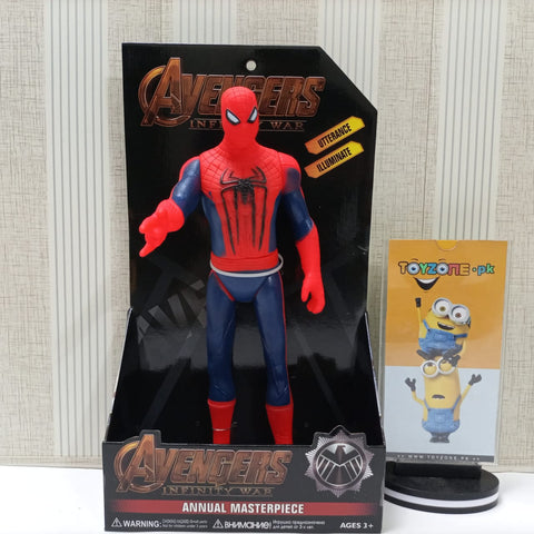 Image of Spider-Man Avenger Action Figure Movable Toy With Light and Sound