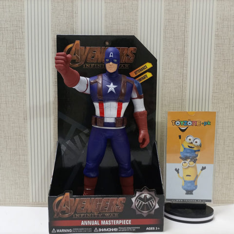 Captain America Avenger Action Figure Movable Toy With Light and Sound