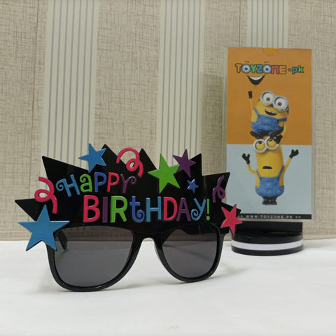 Happy Birthday Crown with Stars Birthday Sunglasses